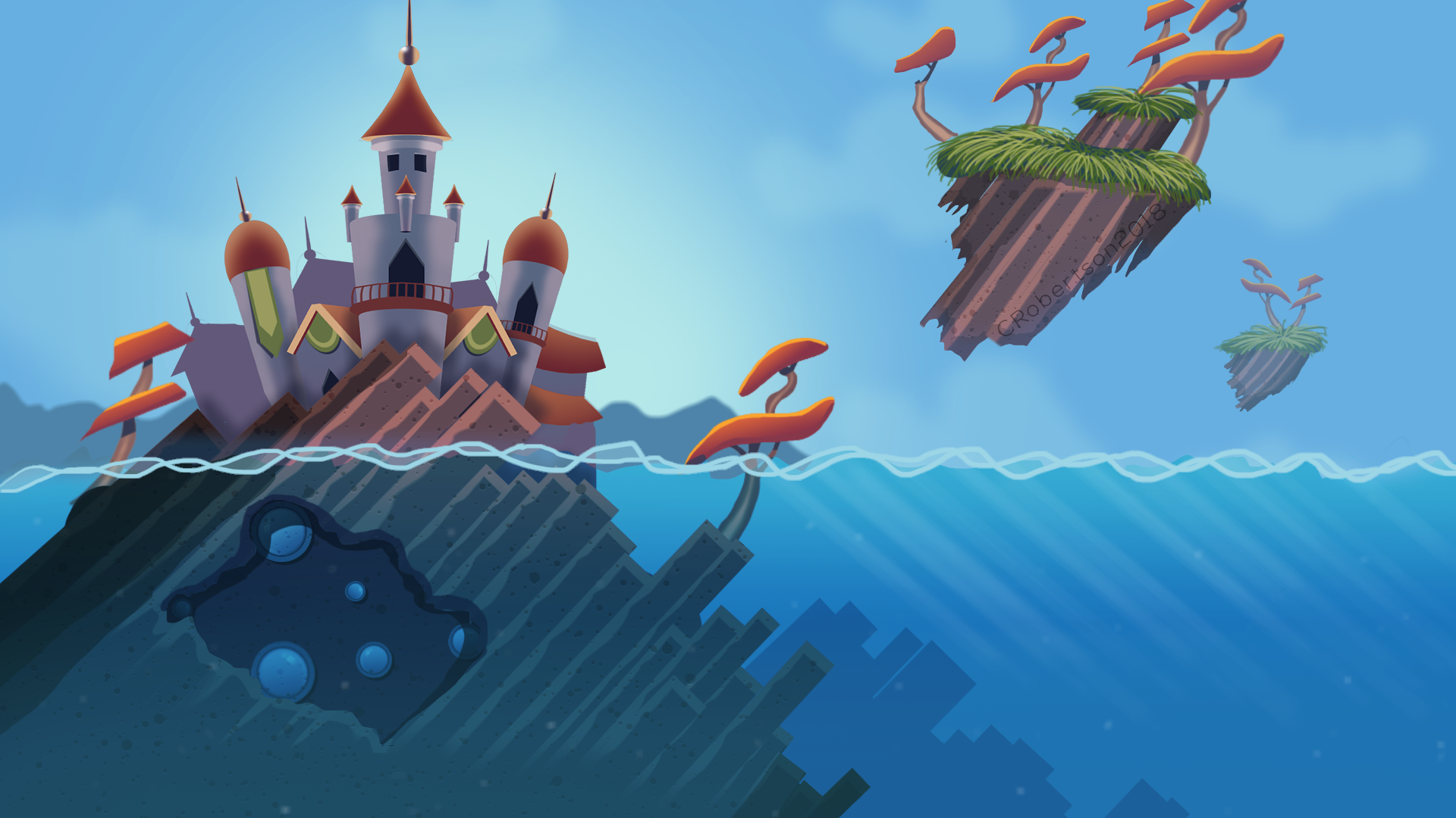 Castle Game Background