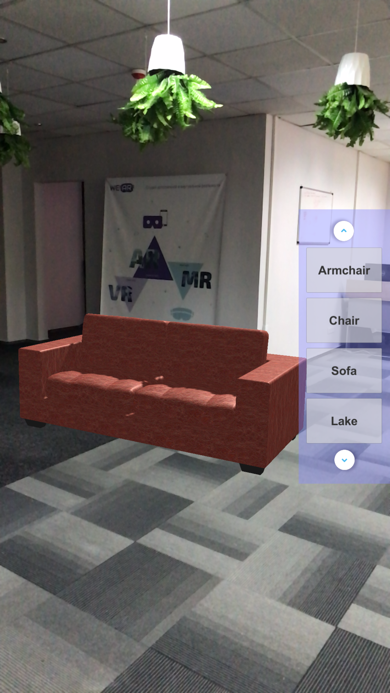 AR furniture placing