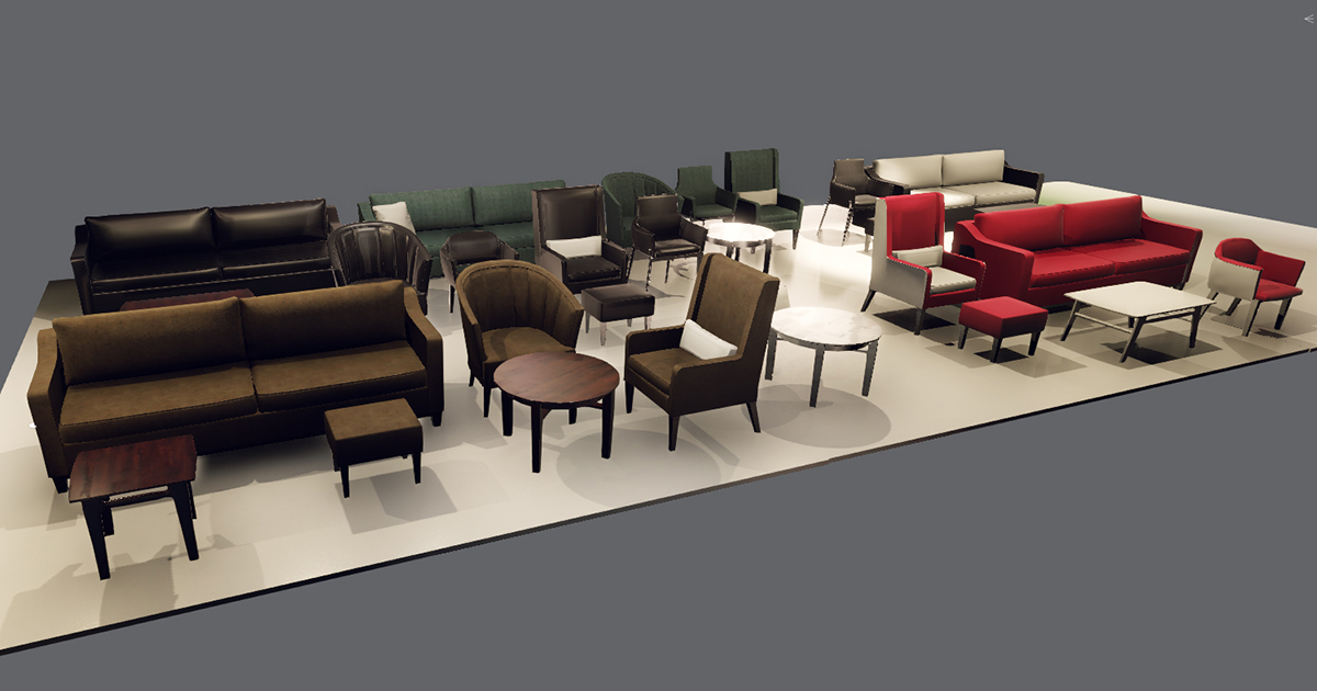 Sofas and Chairs pack