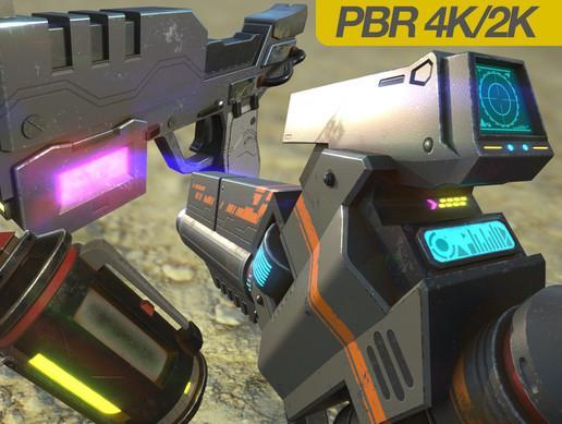 Next Gen Sci-Fi Pbr Weapons