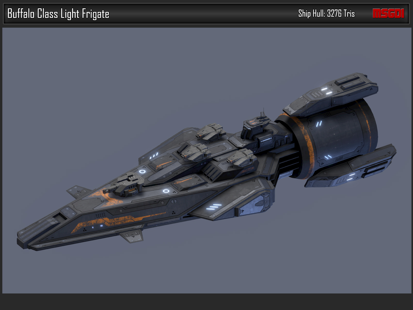 Scifi Light Frigate Buffalo