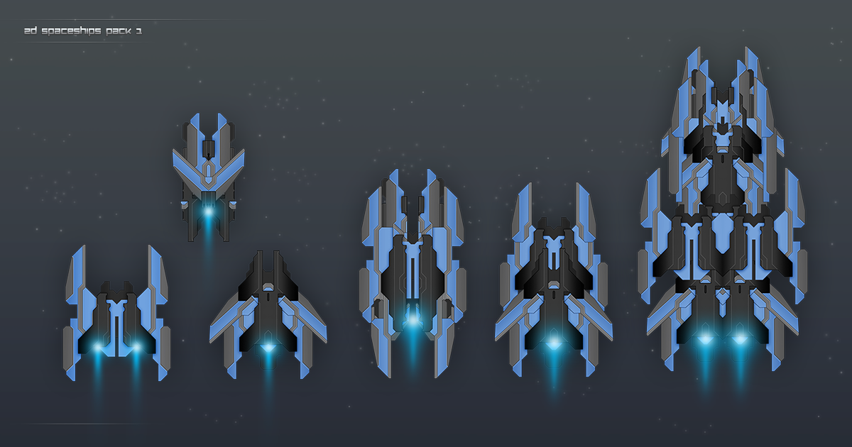 2D Spaceships Pack 1