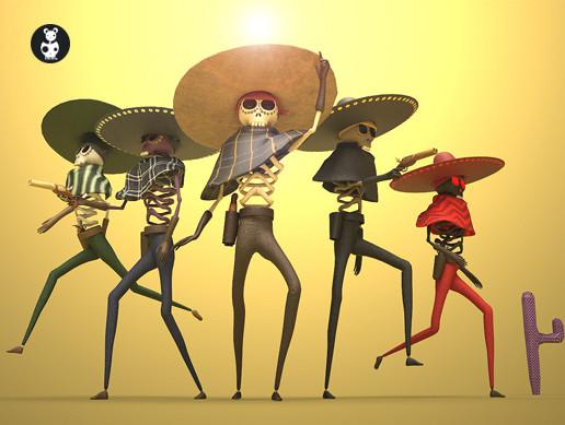 Skulls In Sombreros