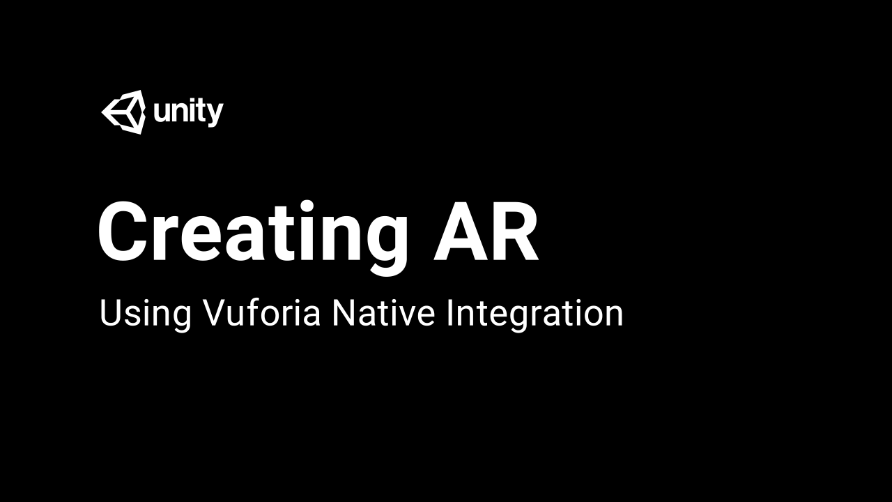 Creating AR Content with Vuforia