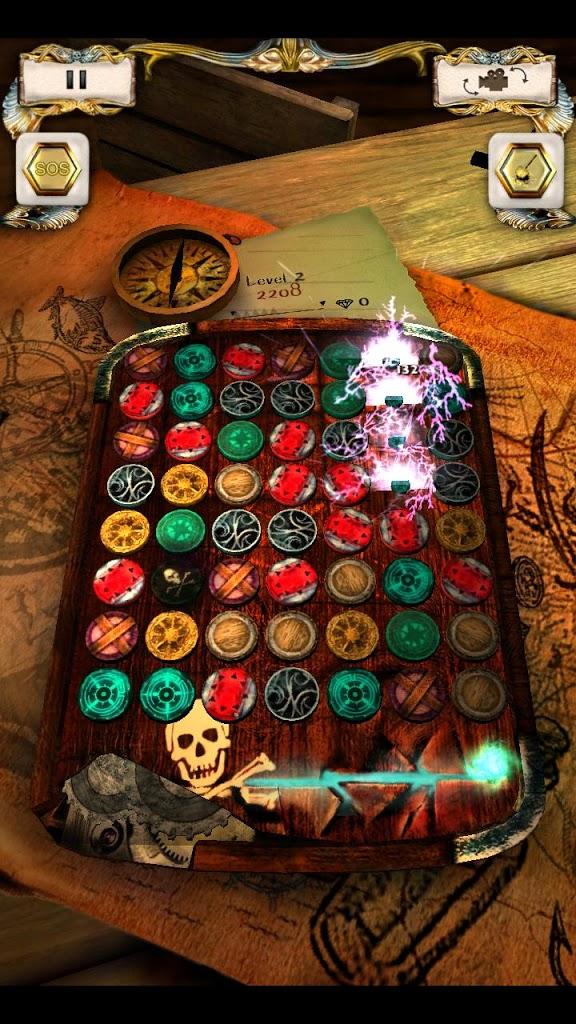 Pirate Jewels / 3d match-3 Puzzle