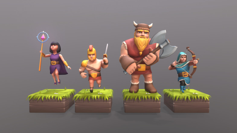 Clash Of Clans style Characters