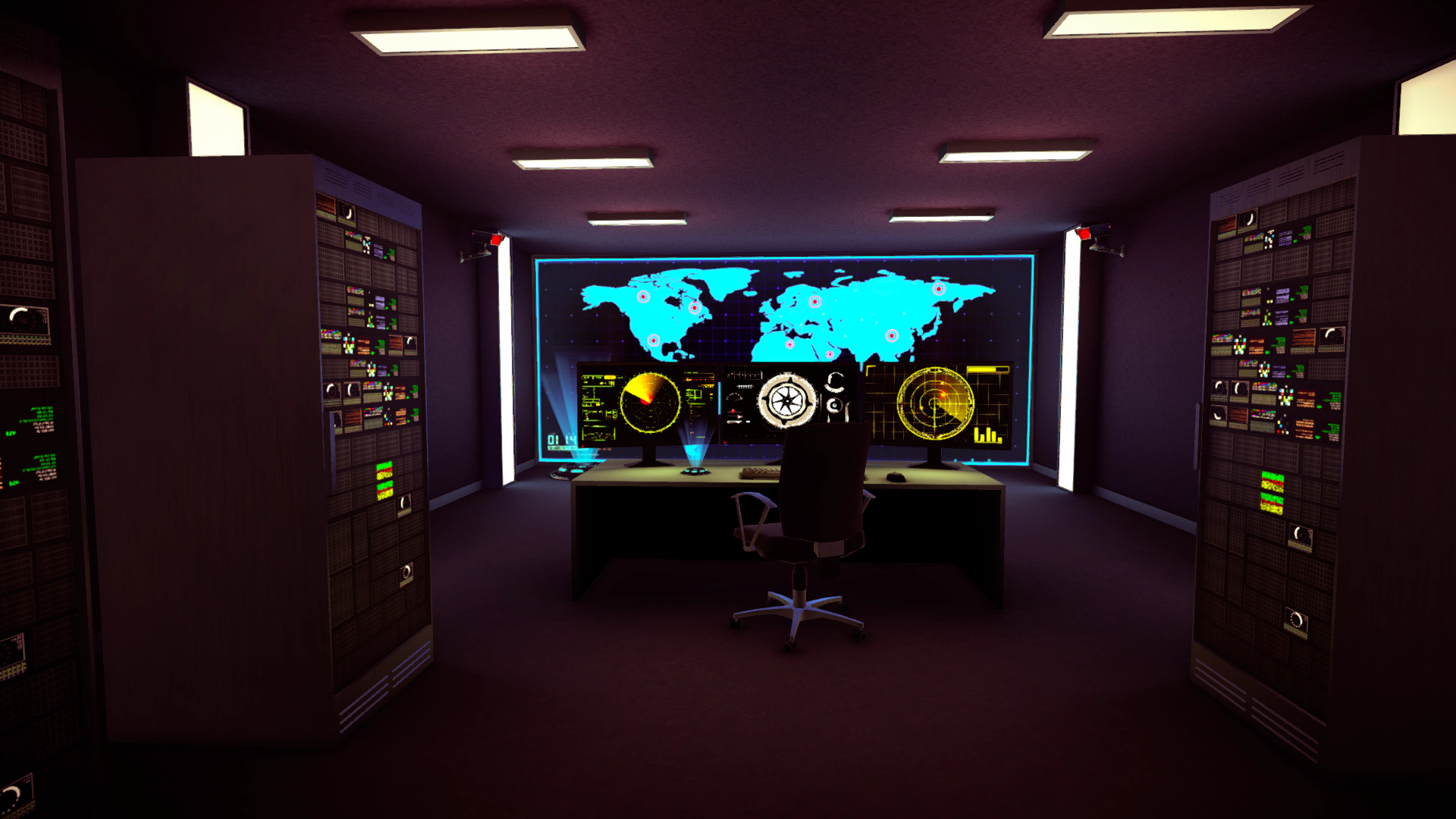 In House Game Project ( Control Room Scene in Unity3d )