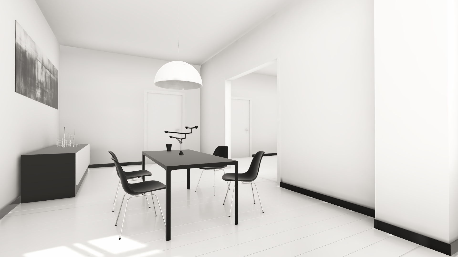 Realtime Rendering - White Bedroom