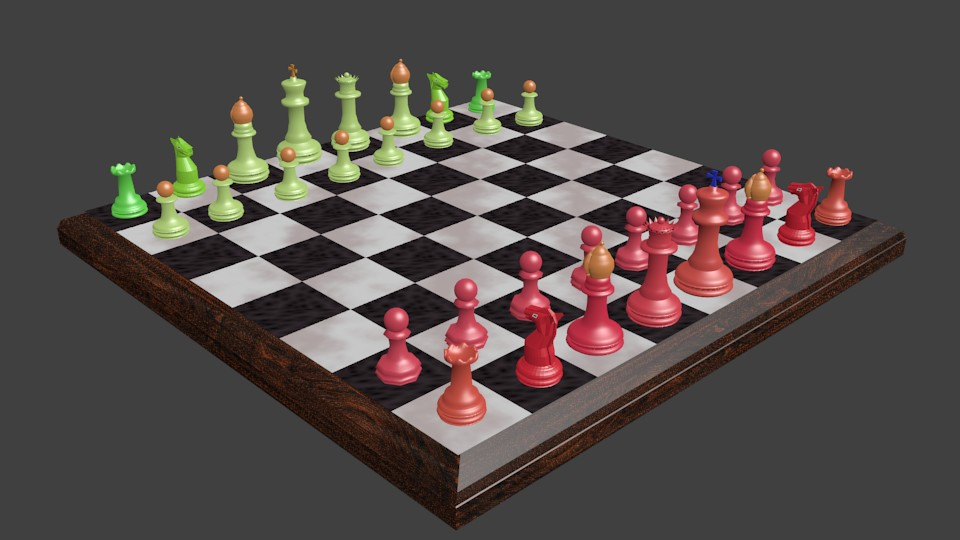 My Chess set Made in Blender!