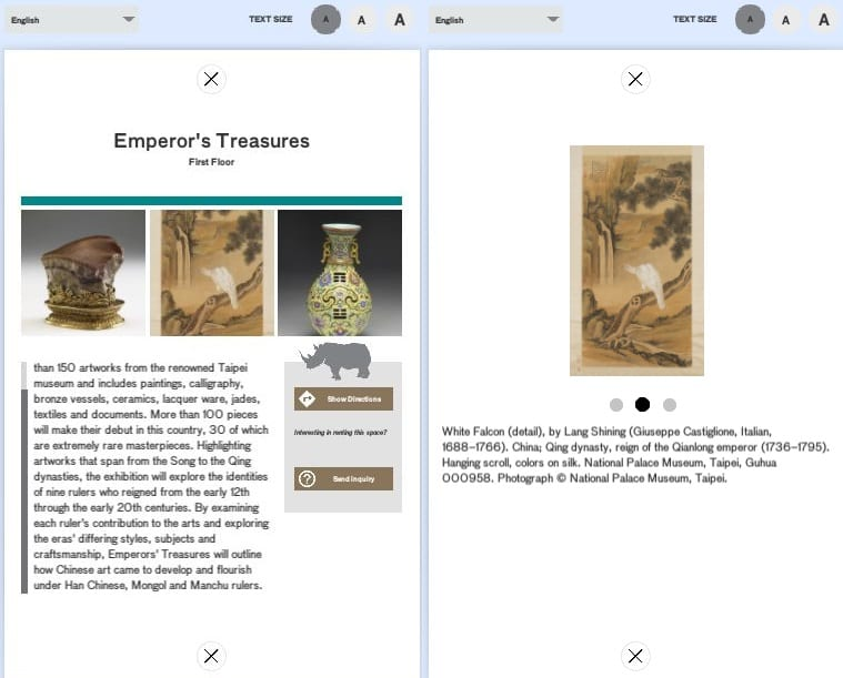 Museum application for guidekick (contract)