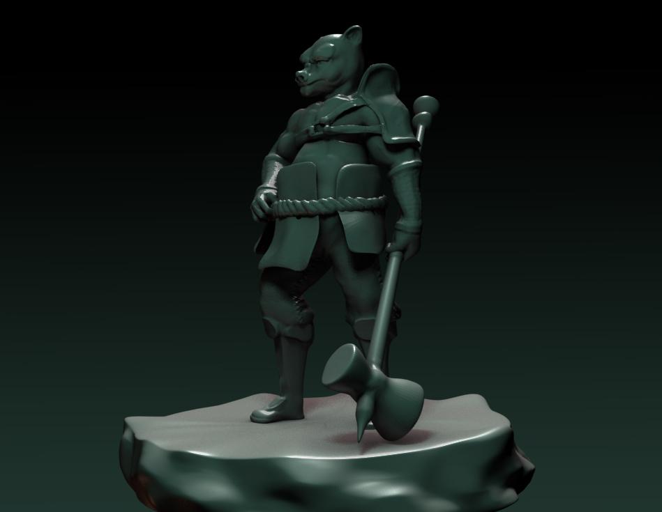 Orc, 3D sculpt
