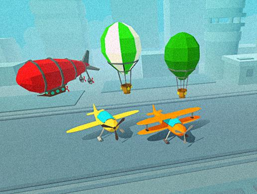Low Poly Air Vehicles