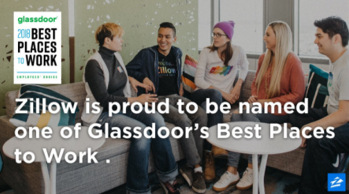 For Fifth Year, Zillow Named One of Glassdoor's Best Places to Work
