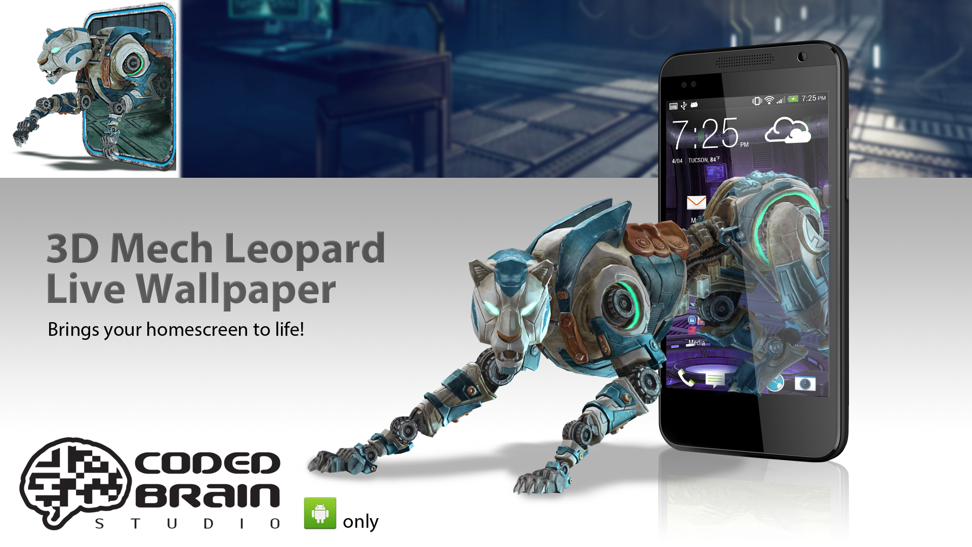 Mech Leopard Live Wallpaper