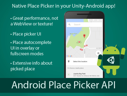 Android Place Picker Native Plugin