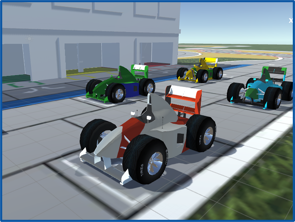 Cartoon F1 Cars