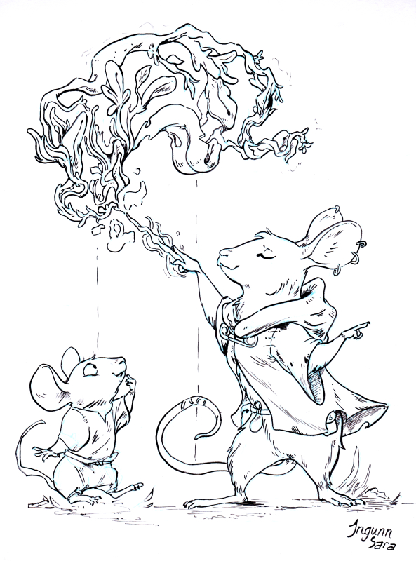 Coloring book: Adventures of the magical mouse