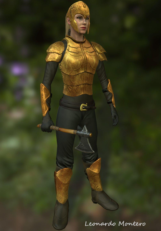 Medieval Female Warrior