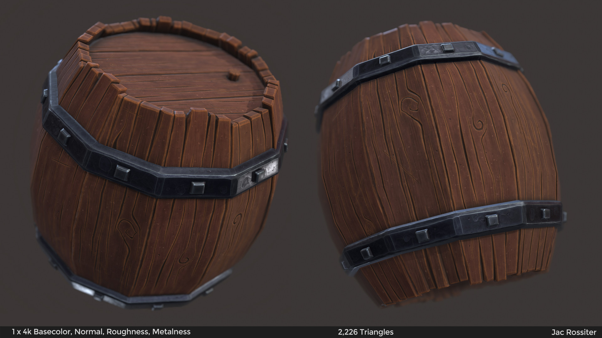 Stylised Wooden Barrel