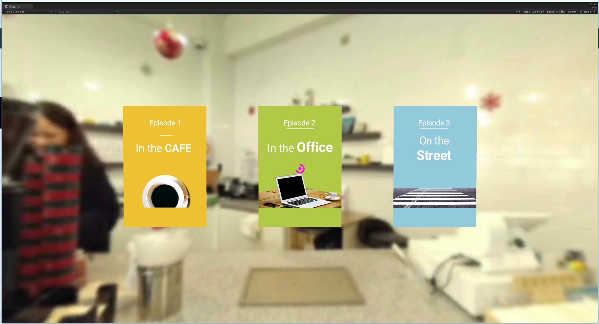 영상 스트리밍 및 음성인식, 곡면 UI를 통한 인터랙션 VR 회화 콘텐츠