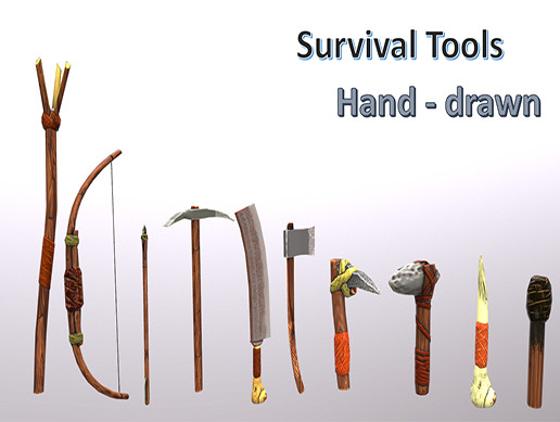 Survival tools hand painting