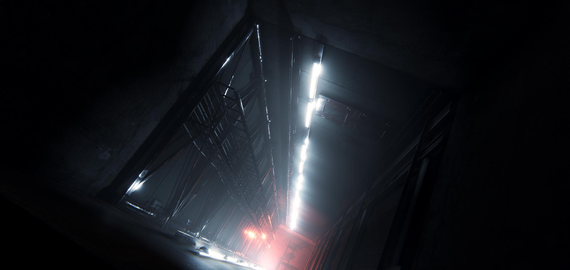Cinematic Elevator Shaft