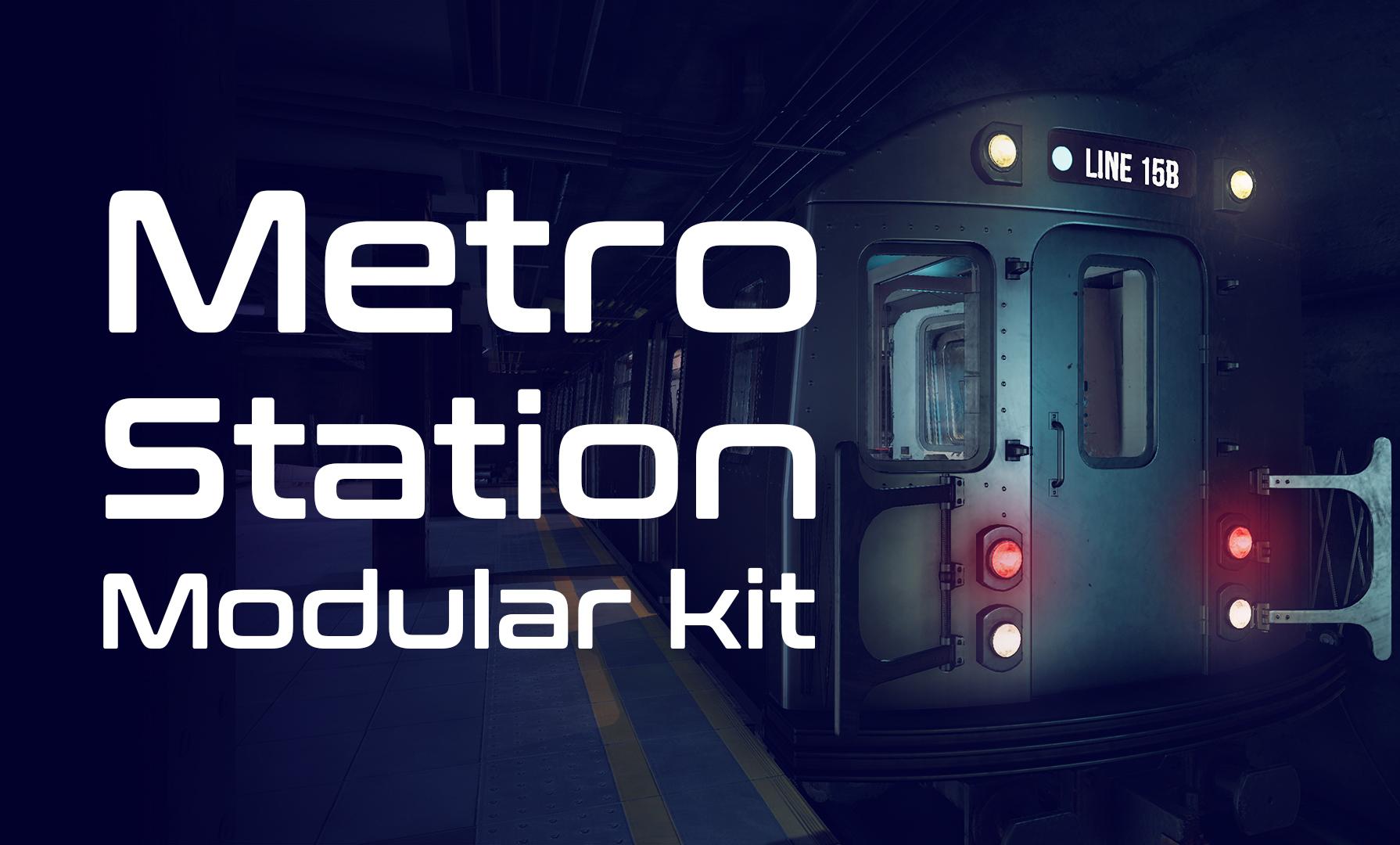 Metro station modular kit