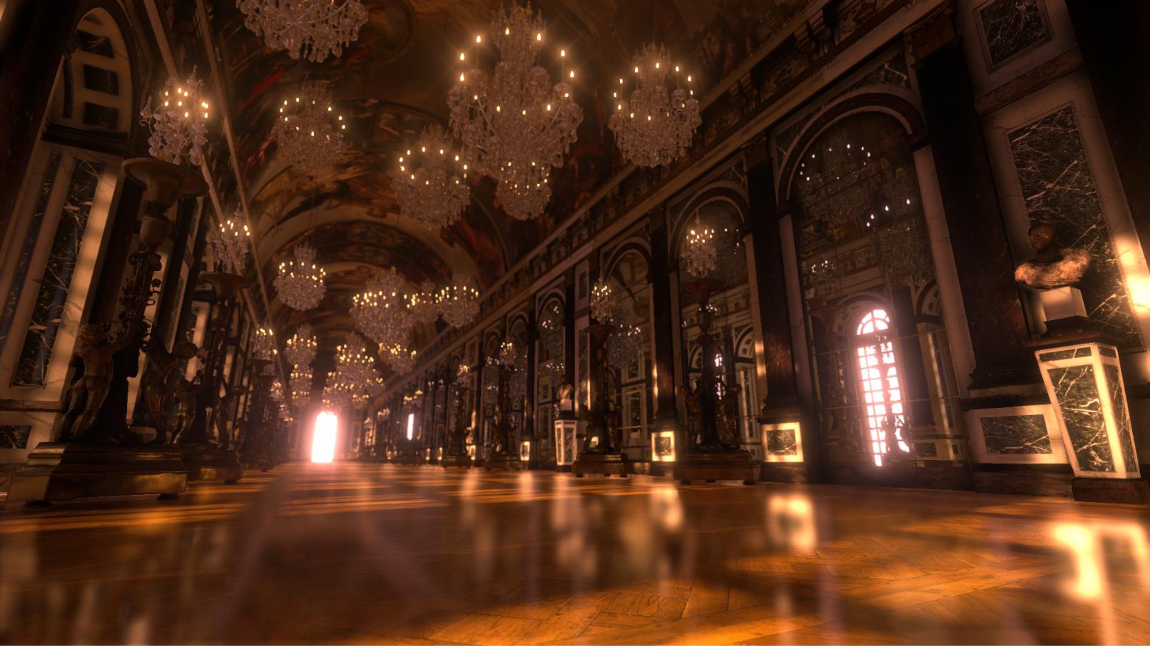 Versailles like corridor