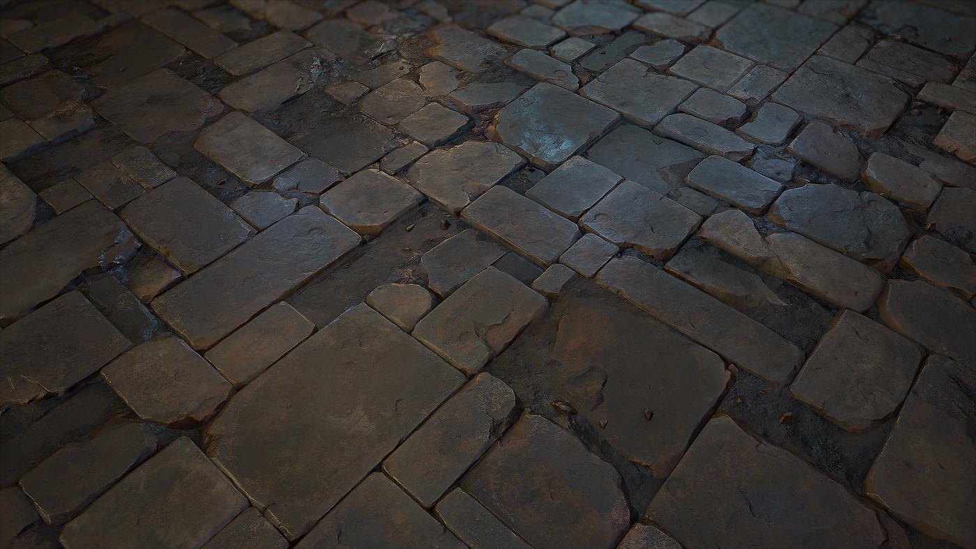 Stone floor tile 03