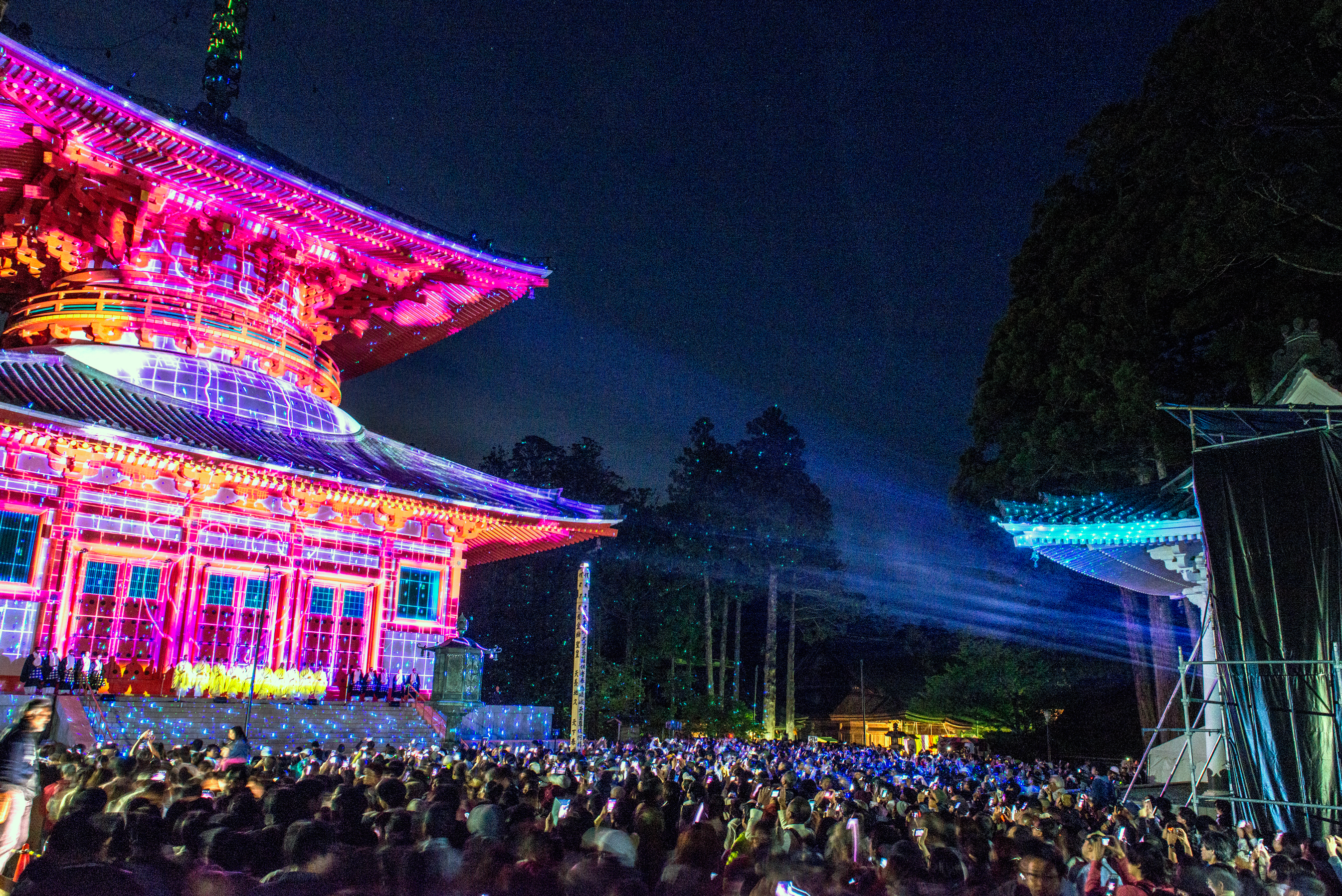Koyasan Projection Mapping
