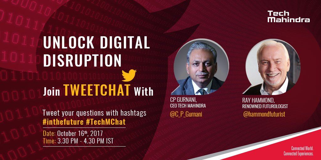 Unlock Digital Disruption! Oct 16|3:30pm #TechMChat