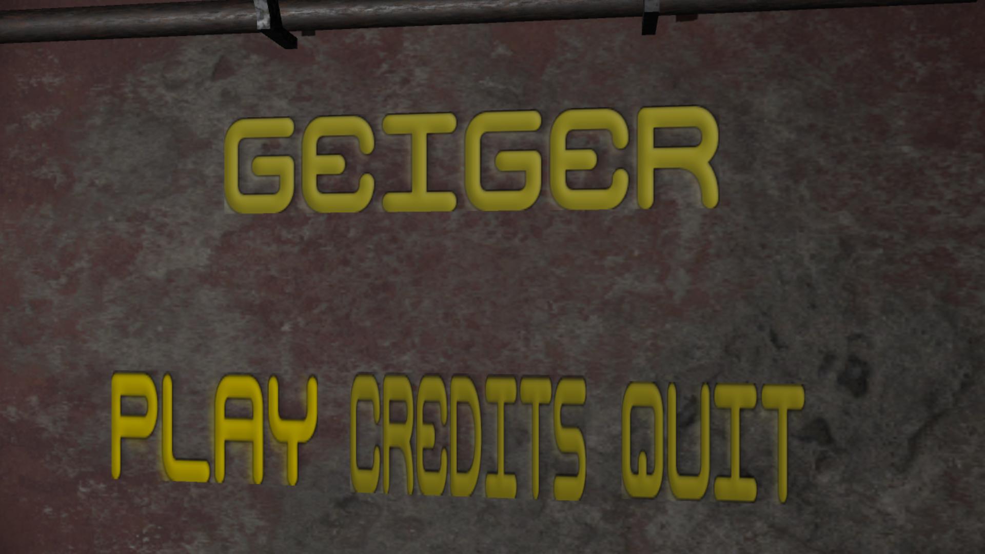 Geiger (Senior Project Game)