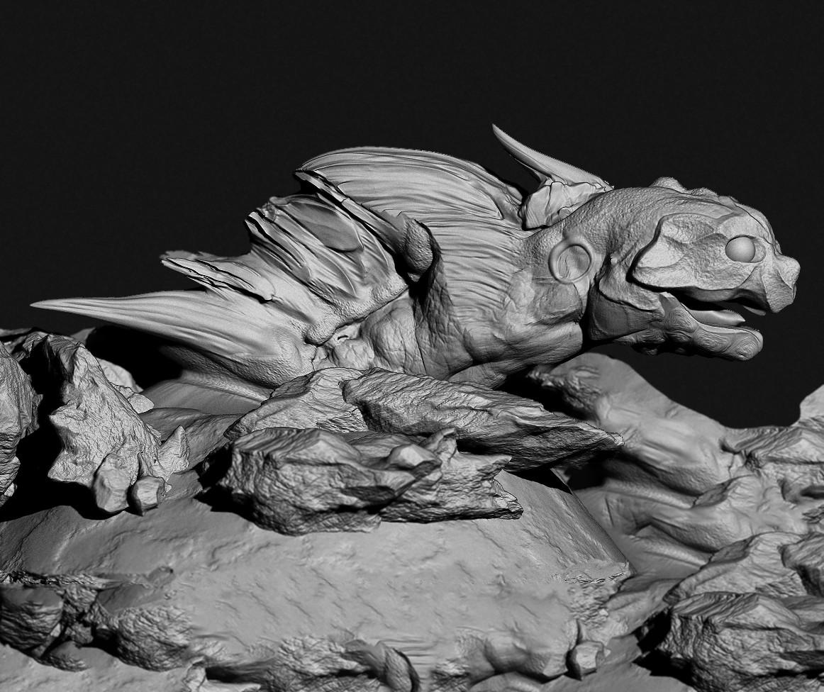 Sand Worm Creature Concept Sculpt