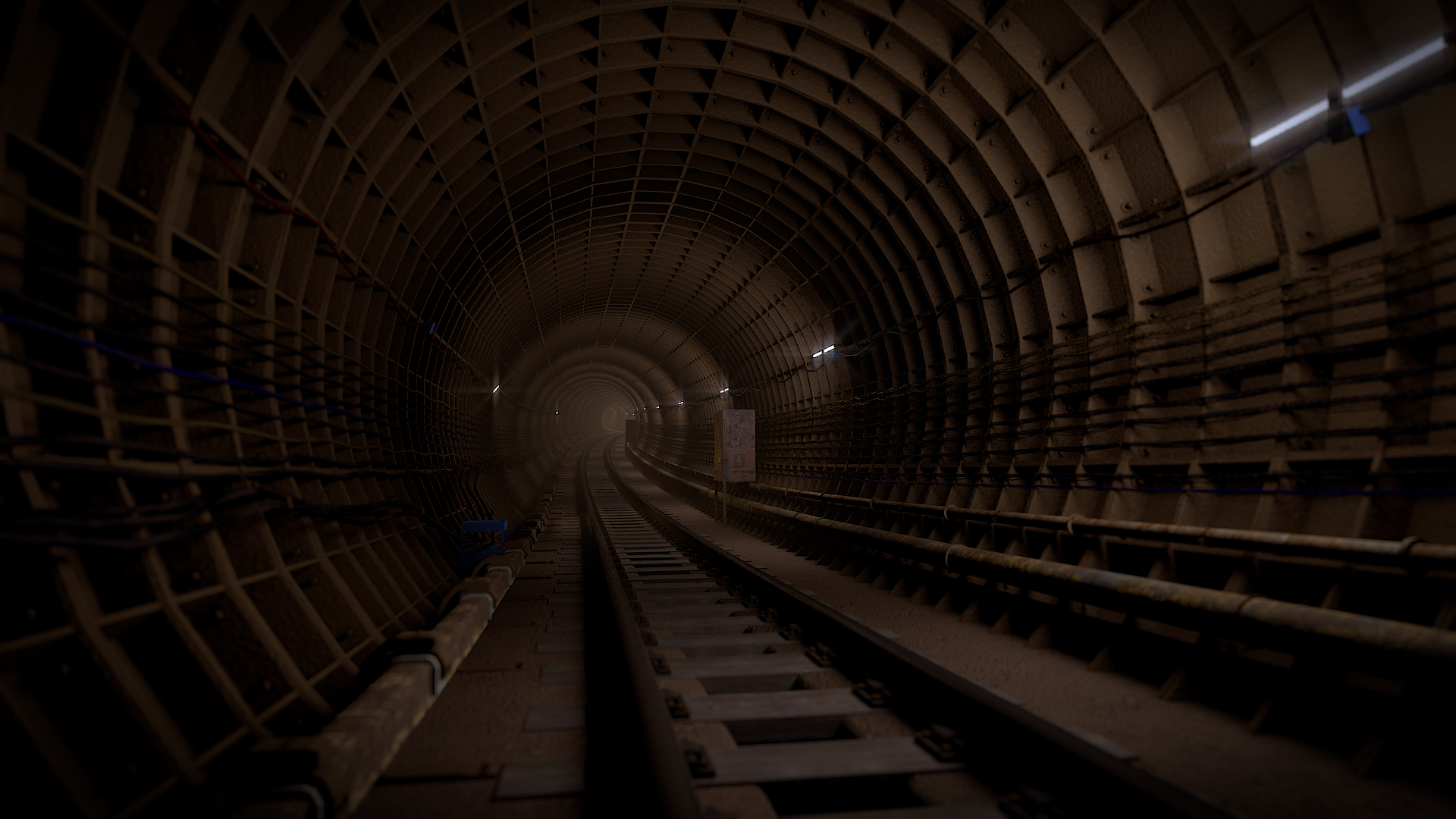 Moscow subway tunnel
