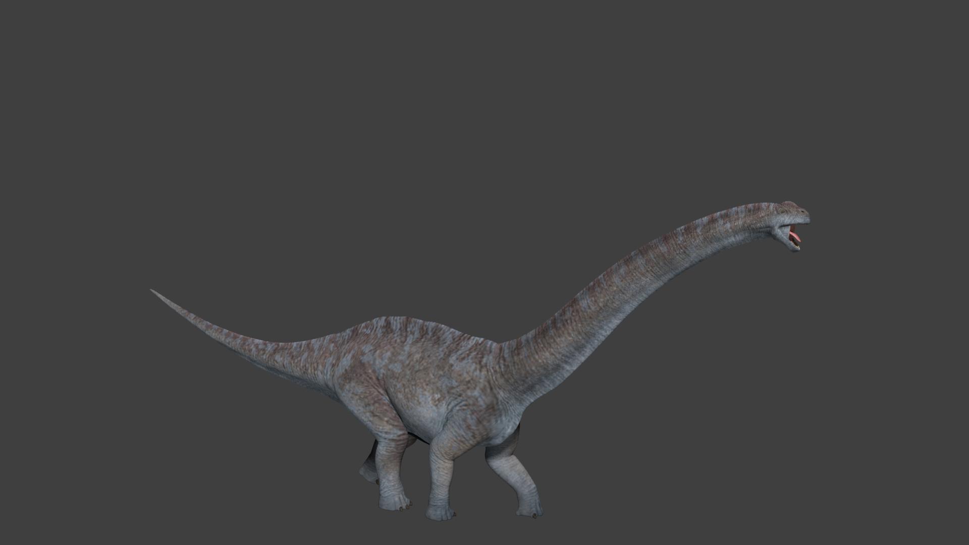 Realistic Brachiosaurus - Unity Asset