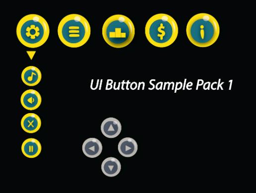 UI button sample pack 1