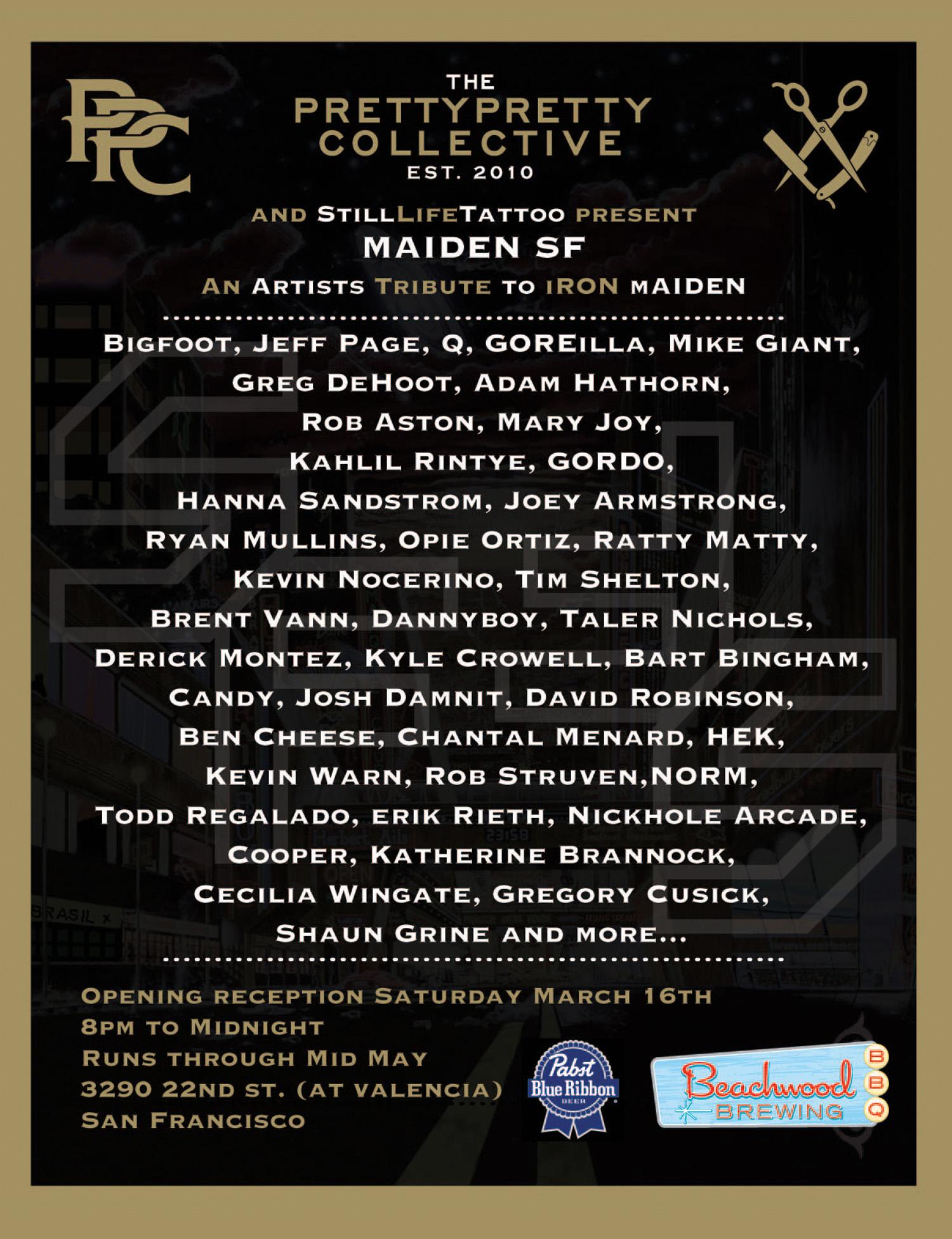 Maiden SF/ Iron Maiden Group Show