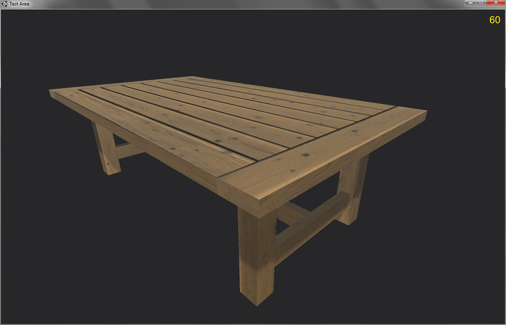 Low-Poly Rustic Table