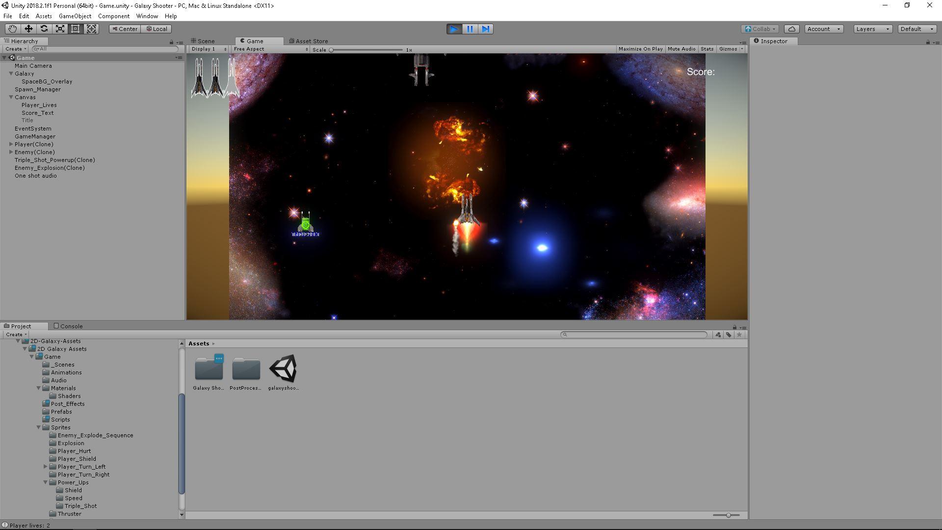 Galaxy Shooter, meu primeiro game!