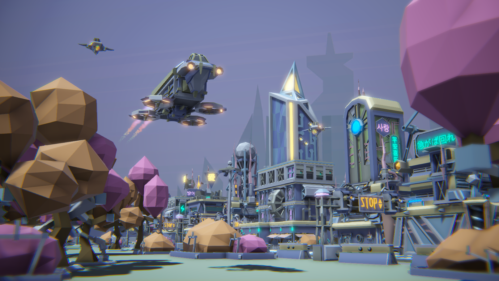 POLY STYLE - Sci-Fi City Customizable Pack
