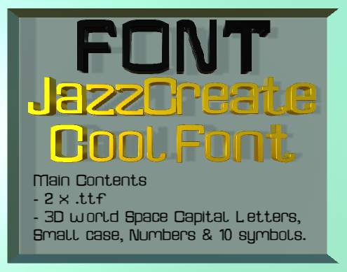 JazzCreate Cool Font