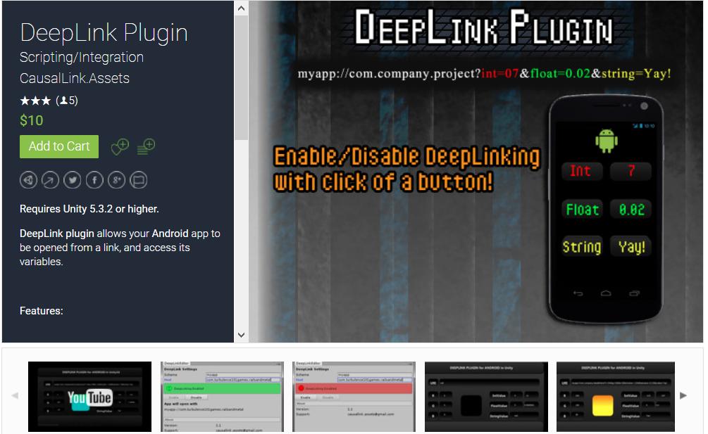 DeepLink Unity Plugin