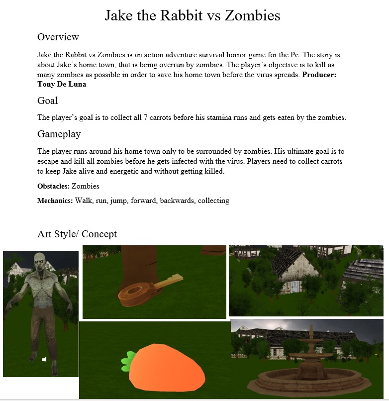 Jake The Rabbit vs Zombies