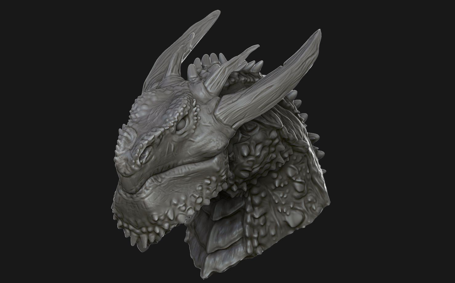 Fantasy sculpts rendering