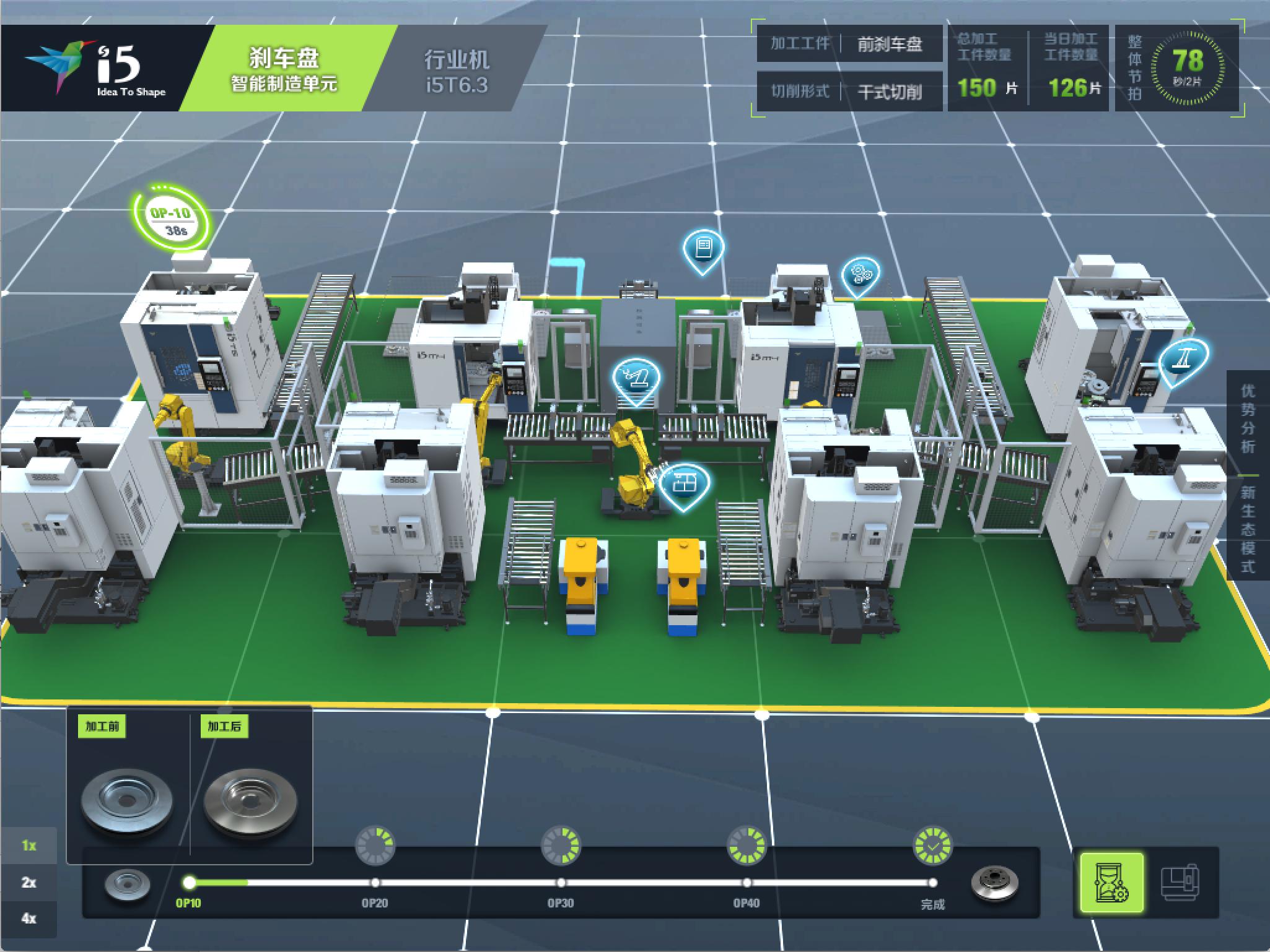 刹车盘数字化制造单元