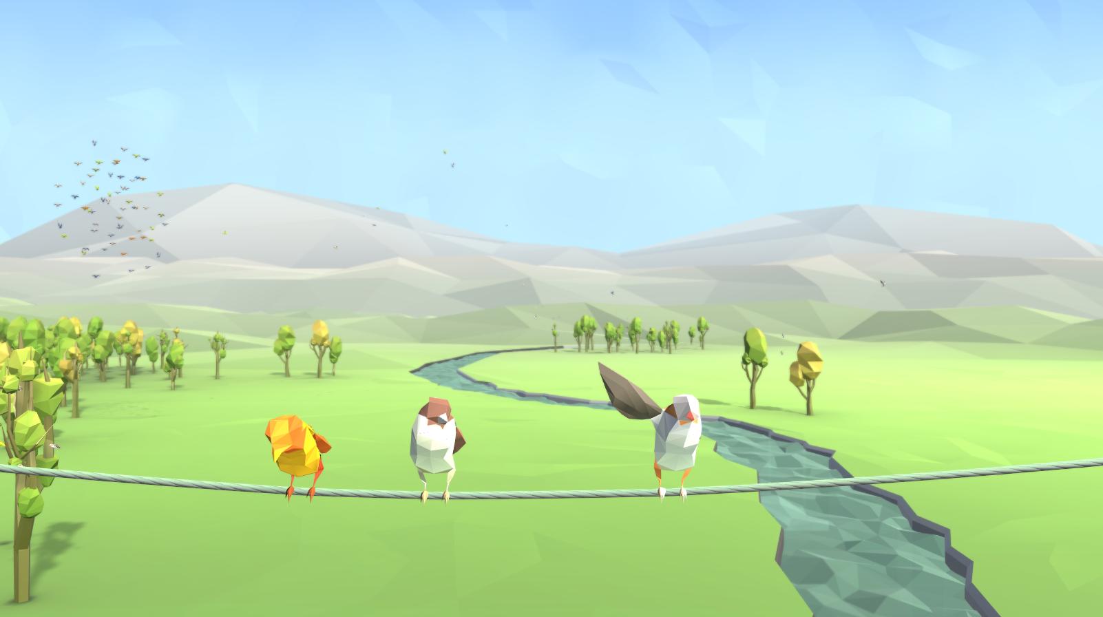 Birds - Interactive Media Installation