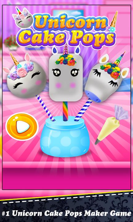 Magic Unicorn Cake Pop Cooking! Rainbow Desserts
