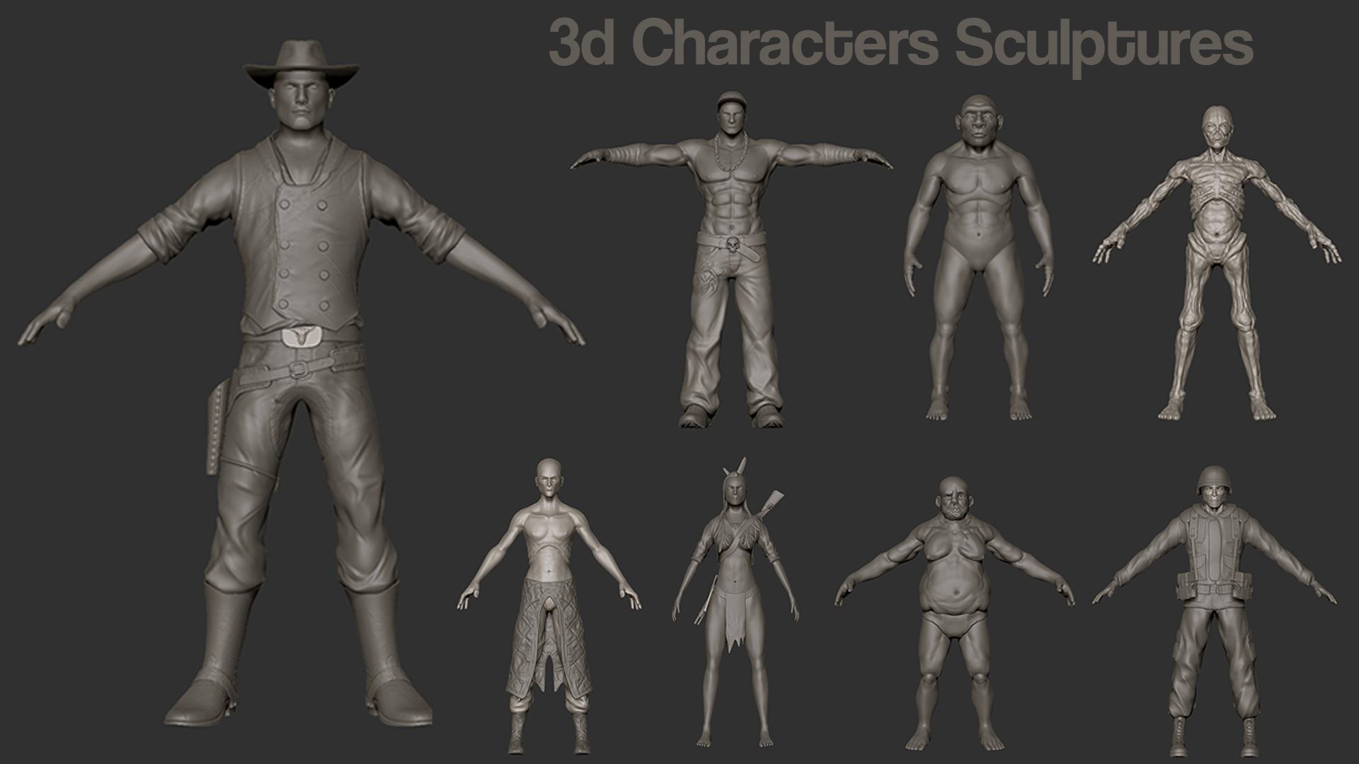 3D Characters Sculptres