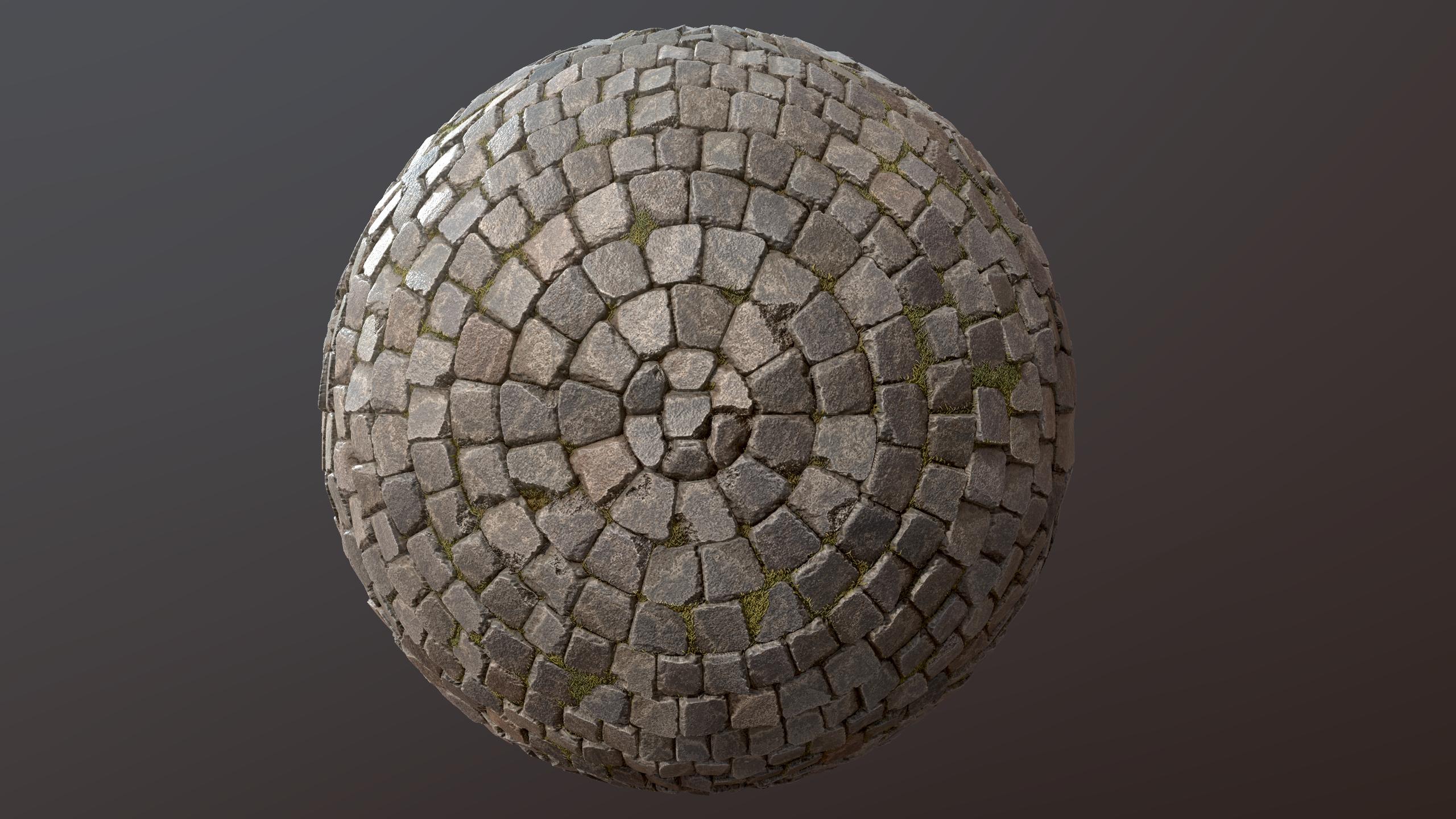 Old Cobblestone Pavement - Substance Designer Material