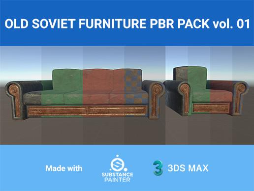 Old Soviet furniture PBR Pack
